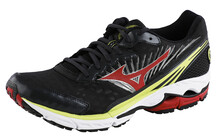 Mizuno Men's Wave Rider 16 anthracite/chinese red/lime punch